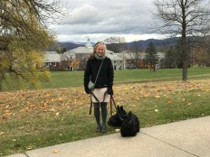 Dorsey re-lives the past at Middlebury College: just her second visit in 35 years.