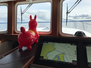 Rody takes up station in the Pilot House.