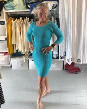 Dorsey models her new Kari England dress!