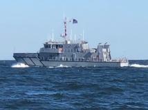 The Navy under way.
