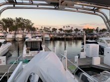 A lovely Flybridge Evening at Bahia Mar.